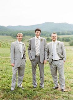 Summer Wedding #Grey #Suit