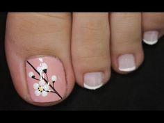 Toenail Art Designs, Pedicure Designs, Toe Nail Art, Toe Nails, Classy Nails, Manicure, Beauty, Youtube, Nail Design