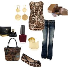 Outfit...now i'm afraid of prints and this may be too much leopard for me...but so cute