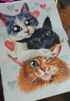 42 Ideas for cats painting ideas gatos Cat Drawing, Painting & Drawing, Desenhos Harry Potter, Warrior Cats, Cat Tattoo, Cute Illustration, Art Sketchbook, Animal Paintings, Cat Art