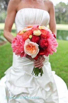 Hand-Tied Bridal Bouquet, Seasonal Flowers, Southern Wedding, Colorful Bouquet, 2017 Bridal Bouquet, Luxury Bride, Happy Bouquet