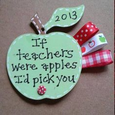 Wooden Personalised Teacher gift apple - can be personalised