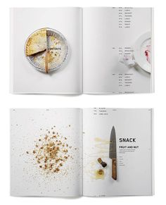 Beautiful editorial design for 'Ritual Book Series' by talented graphic designer Jessica Giboin. Magazine Layout Design, Book Design Layout, Book Cover Design, Recipe Book Design, Cookbook Design, Identity Design, Brochure Design, Editorial Design, Layout Print