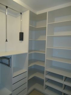Corner Closet Organizer, Closet Organization, Cupboard Design, Walk In Closet, Bookcase, Shelves, Modern, Furniture, Closets