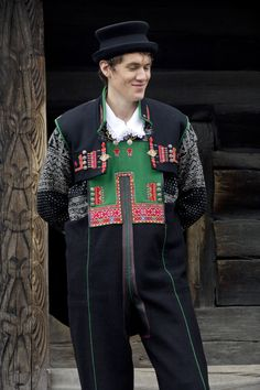 FolkCostume&Embroidery: Costume and Embroidery of Setesdal, East Agder, Norway, part 2 men Rare Clothing, Folk Clothing, Kristiansand, Folk Costume, Traditional Outfits, Norway, Bridal Dresses, Culture, Embroidery
