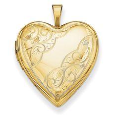 14K 20mm Side Swirl Heart Locket XL592