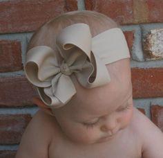 Boutique caqui grande arco venda avena marrón del niño niña debe tener otoño invierno