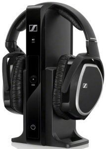 48adb5cfb85 The Sennheiser RS 165 Wireless Headphone system is perfect for connecting  to a TV, stereo receiver or other audio device for an excellent wireless  headphone ...