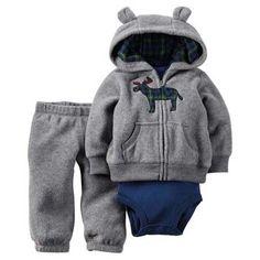 Unisex Baby Clothes Set - Jacket + Romper + Pants (19-24 Months)