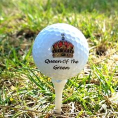 Set of 3 Custom UV Printed Golf Ball - Queen of the Green, Fathers Day, Gift, Personalized Golf Balls, Wedding Giveaway, Souvenir GB-0014