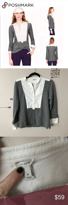 """J Crew Tuxedo Bib Sweatshirt Excellent condition.   18.5"""" armpit to armpit and 23"""" shoulder to hem   From a smoke free and pet friendly home   Offers welcome 👗 J. Crew Tops Sweatshirts & Hoodies"""