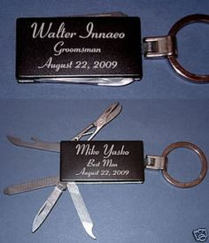Derek gave Tom and Lanier these as gifts for helping with the wedding and being groomsmen.