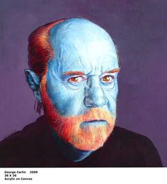George Carlin portrait by Scott Donaldson