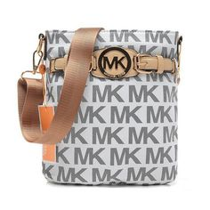 Perfect Michael Kors Logo Large Grey Crossbody Bags, Perfect You