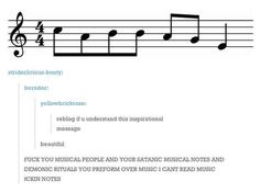 I laughed too forte ;) for some of these. I don't even play music and I'm not too good at reading notes, but my passion or music pays off. Warning: puns about clefs ahead.