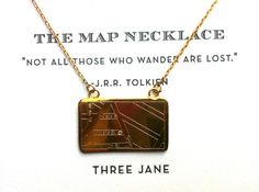 We're obsessed with the map necklace from @Mary Thompson Jane Jewelry