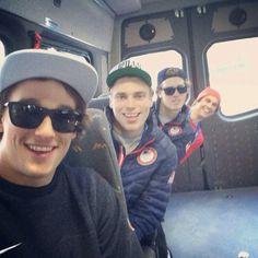 Team USA ski slopestyle team. Nick Goepper,  Gus Kenworthy, Joss Christensen, Bobby Brown