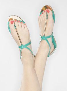 Zoe Sandalia Verde grupo, zapatos o pisos en estilo de Tyra AB (SAN16r)