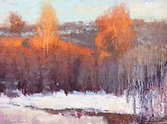 Winter on Summit Creek by Colleen Howe Bleinberger Oil ~ 9 x 12