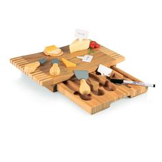 Picnic Time Concavo Cutting Board and Cheese Tools Set - Set of 2