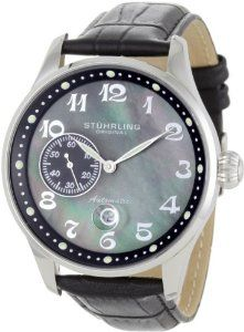 Buy Stuhrling Original Men's 148A.BH.33151 Classic Lineage Grand Automatic Mother-Of-Pearl Date Watch Special offers - http://greatcompareshop.com/buy-stuhrling-original-mens-148a-bh-33151-classic-lineage-grand-automatic-mother-of-pearl-date-watch-special-offers