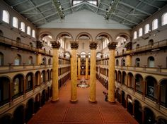 National Building Museum Washington D.C. The site of inaugural balls and a super-sized setting for galas, weddings, and launches.