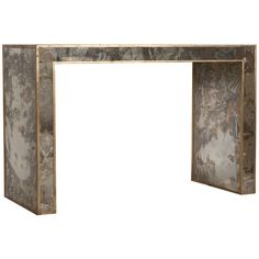 Worlds Away Reverse Antique Mirrored Console Edges
