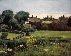 Village Scene - Childe Hassam - 1883-85