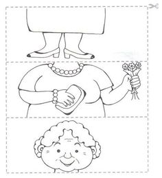 Crafts,Actvities and Worksheets for Preschool,Toddler and Kindergarten.Lots of worksheets and coloring pages. Preschool Puzzles, Preschool Worksheets, Grandparents Day Crafts, Activities For Kids, Crafts For Kids, Puzzle Crafts, Family Theme, Pre School, Coloring Pages