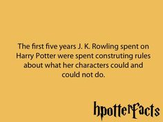 Harry Potter Facts 101 Makes so much sense. Every single detail is perfect!