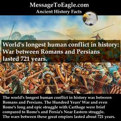Ancient History Facts: War Between Romans And Persians Lasted 721 Years: World's Longest Human Conflict In History