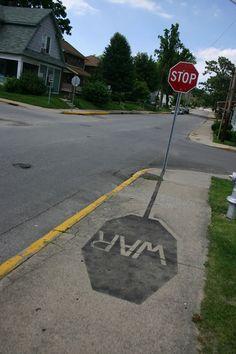 Stop War 3d Street Art, Street Art Utopia, Amazing Street Art, Street Art Graffiti, Banksy, Urbane Kunst, Graffiti Artwork, Graffiti Artists, Graffiti Lettering