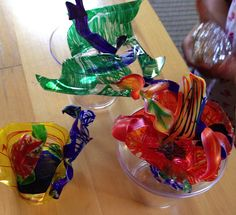 STEM to STEAM: Shrink Art Sculpture, Dale Chihuly Style   Art & Creativity in Early Childhood Education
