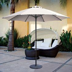 Galtech 9u0027 Sunbrella Aluminum Heavy Duty Patio Umbrella