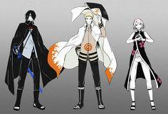 Naruto: Sakura Haruno , Sasuke Uchiha , Naruto Uzumaki
