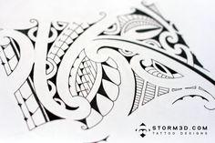 Cesc Fabregas inspired tribal armband / elbow tattoo design