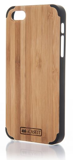 iCASEIT Wood iPhone Case - Genuinely Natural, Unique & Premium quality for iPhone 5 / 5S - Bamboo / Black: Amazon.co.uk: Electronics