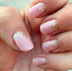 glitter fade nail manicure