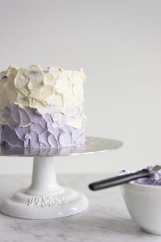 Honey lavender cake with vanilla german buttercream and lavender ganache drip — Cloudy Kitchen Cupcakes, Cake Cookies, Cupcake Cakes, Lavender Cake, Lavender Honey, Lavander, Culinary Lavender, Honey Cake, Easy Cookie Recipes