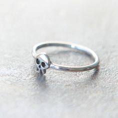 Mini Skull ring in sterling silver by laonato on Etsy, $28.00