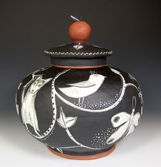 Jenny Mendes  This is really beautiful sgraffito, I think.