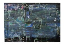 Artist: Geoff Harvey Title: Reflected Vinnies Window Still Life