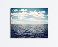 Blue Ocean Canvas  dark seascape photography by CarolynCochrane, $55.00