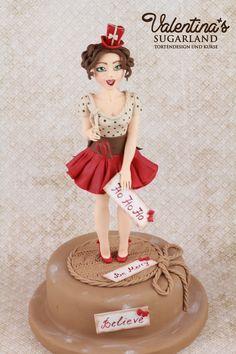 Vintage Christmas Girl - Fondant Figurine - Advanced Modleling Class