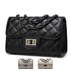 6abe0ef3bb New Design Women Bag Small Fashion 2017 Thread Plaid PU Leather Shoulder  Bags Quilted Chain Casual. Click visit to buy