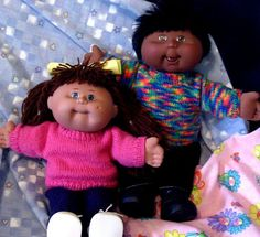 Miss Meggy Designs - Jumpers/Sweaters ++ to suit Cabbage Patch Kids in 2 sizes Knitting Pattern