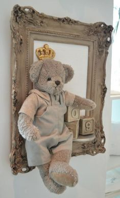 Guillaume textured printed faux to shear mink teddy bear new 12' luxury baby gif