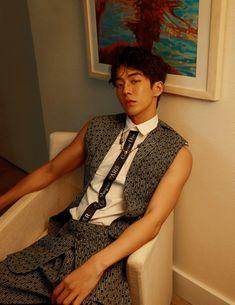 "Nam Joohyuk // W Korea Magazine 2018 March Issue ""Aloha Days Jong Hyuk, Lee Jong Suk, Korean Boys Ulzzang, Korean Men, Asian Men, Pretty Men, Pretty Boys, Asian Actors, Korean Actors"