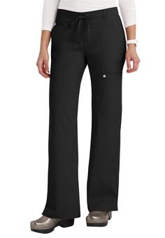 Cherokee Luxe junior fit low rise cargo scrub pants. Main Image