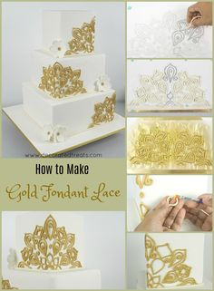 How to make gold fondant lace